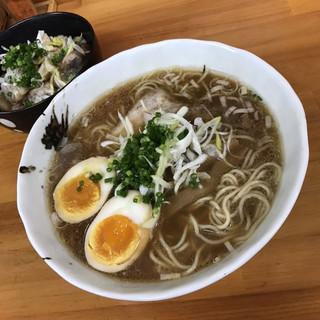 自家製麺・縁 - 料理写真:濃厚醤油味玉らぁめんとチャーシューご飯(小)