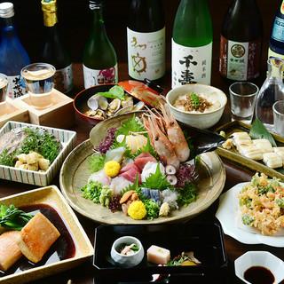 鮮度抜群!浜松の魚介をご宴会で満喫
