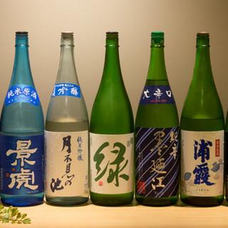 天ぷらに合う日本酒やワインで、極上のマリアージュをお届け