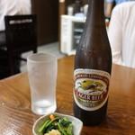 Chibuneya - キリン・ラガー(550円 小鉢付き)