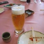 石岡ゴルフ倶楽部 - 追加で熟撰生ビールを・・¥680-