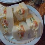 ラディッシュ - モーニングの「卵サンド」一人前