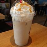 カフェ フラミンゴ - アイス塩キャラメルラテ450円(ホットも有)
