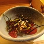 鮨処 膳 - 鮪に茎山葵