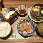 膳や musi-vege+ - 海老マヨチリと鶏笹身南蛮の定食