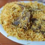 """パキスタン レストラン - """"仔羊肉穆斯林香飯(ラム・ビリヤニ)""""、仔羊肉(こひつぢにく)"""