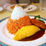 レストラン スコット - 富士山オムライス 1200円+大盛り100円