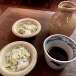 Sanjiro - 薬味は黙っていても一人2皿出されます。女将が人数間違えたわけではありませんw