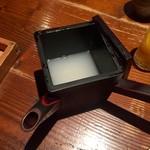 板蕎麦 山灯香 - そば湯