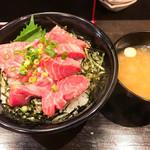 丼ぶり屋 まぐろ丼 恵み - 天然ミナミマグロの頭肉丼(ご飯大盛) 1,100円(サービスデー価格)