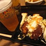 シェフが作る北海道ぎょうざ 果皮と餡 - ビールと一緒に