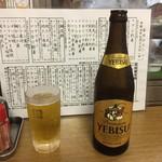 成田家 - 恵比寿中瓶からスタート