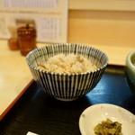 うどん ゆきの - [2019/07]ぶっかけ定食(750円)・かやくご飯