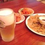 11195206 - チヂミとビール☆