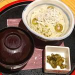 和食バル 音音 - オリーブとしらすのご飯