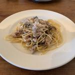 トラットリア 星のイタリコ - 鶏モモの白ワイン煮キノコソース