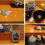 みつ橋 - カウンター。みつ橋(愛知県西尾市)食彩品館.jp撮影