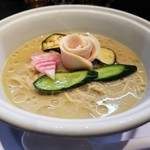 らーめん三極志 - 今週の限定麺 牡蠣の冷やしらーめん