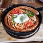 西宮 カフェ Gardens Pasta Cafe ONS - ■すっごいソーセージのナポリタン 1380円