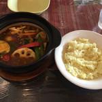 天竺 - 具だくさん野菜カレー