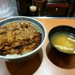 東京チカラめし - 牛丼と味噌汁