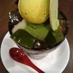 タンブラン - 季節メニューの抹茶パフェ