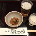 渋川問屋 - 料理写真:いかにんじん・食前酒・瓶ビール