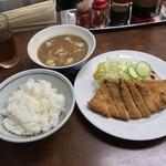 111978373 - 赤心 本店(せきしん)(兵庫県姫路市駅前町)トンカツセット 1,200円