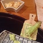 熊魚菴 たん熊北店 - わさびとガーリックチップ