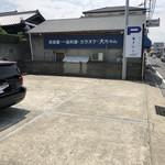 おうどん 瀬戸晴れ - 店の南側の駐車場