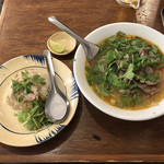 BIA HOI CHOP - 「ブンボーフエと鶏飯(ハーフ)」のAセット 1000円