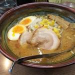 狸小路 - 料理写真:味噌ラーメン(味玉付けて850円)