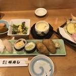福寿し - 寿司ランチ&天ぷら=1080円