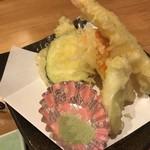 福寿し - 天ぷらは5点盛り