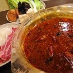GRAB HAPPINESS DINER  - 火鍋基本セット☆豚肉&ラム肉をしゃぶしゃぶします♪