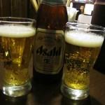 らぁめん銀波露 - とりあえずビール