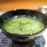 浪速割烹 喜川 - あおさ粥 香の物