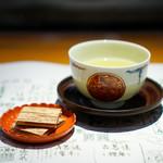 浪速割烹 喜川 -  煎茶 のし梅
