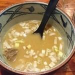 めん屋 まんまる - スープ割りにしてもらいました