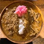 カレーちゃん家 - 料理写真:あいがけ(キーマ、きのこ)
