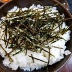 すみれ - 海苔ご飯