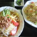 台湾料理 香林坊 - 料理写真:冷麺セット(台湾冷麺+炒飯)