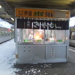 駅そば みかど - 2012/1/14 真冬のホーム。