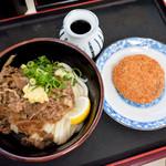 麺八 - 肉ぶっかけ冷と、メンチカツ