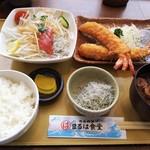 Maruhashokudou - ラシック定食(エビフライ2本付き)
