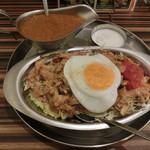 インド定食 ターリー屋 - チキンケバブキーマライス定食990円