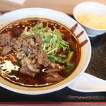 老北京 羊蝎子 - 羊汤面セット