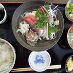 11209049 - 地魚お刺身定食 \1050