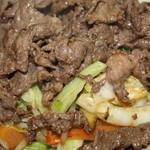 松鶴 - 朝鮮焼定食(牛)¥920   アップで撮影