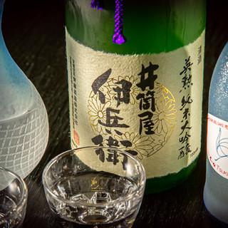 【約30種類】季節の地酒と旬の逸品を合わせてお愉しみください